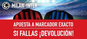 Sportium: Milan vs. Inter. Apuesta a 'Marcador Exacto'… Si fallas ¡Devolución!