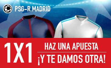 Sportium: PSG vs. Real Madrid. Haz una apuesta y te regalamos otra