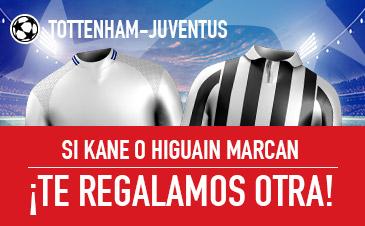 Sportium: Tottenham vs. Juventus. Si Kane o Higuain marcan… ¡Te damos otra!