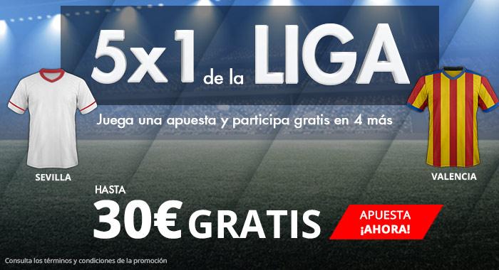 Suertia: Sevilla vs. Valencia. Haz tu apuesta y llévate hasta 30€ GRATIS