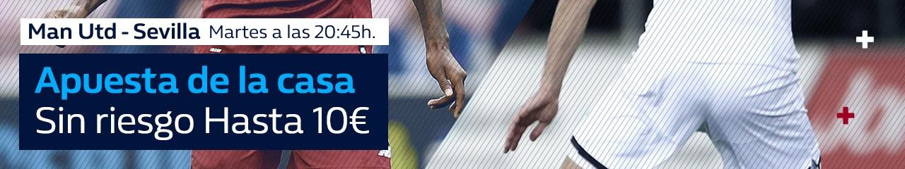 William Hill: Man. United vs. Sevilla. Apuesta de la casa