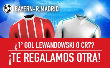 Sportium: Real Madrid vs. Juventus. Si fallas y Ronaldo o Lewandowski marcan el primer gol… ¡Devolución!