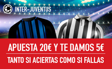 Sportium: Inter vs. Juventus. Apuesta y te damos 5€ ¡¡¡GRATIS!!!