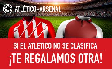 Sportium: At. Madrid vs. Arsenal. Si el At. Madrid no se clasifica… ¡Devolución!