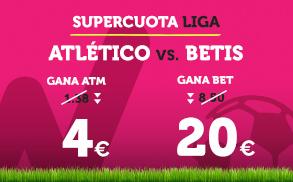 Wanabet: ¿At. Madrid 4.0 vs. Betis 20.0? + 200€