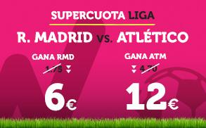 Wanabet: ¿Real Madrid @6.0 vs. At. Madrid @12.0? + 200€