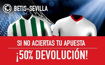 Sportium: Betis vs. Sevilla. Si fallas… ¡¡¡DEVOLUCIÓN!!!