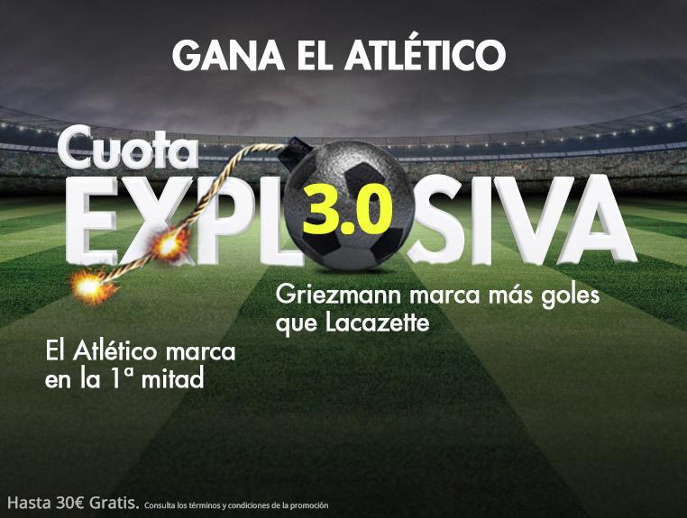 Suertia: At. Madrid vs. Arsenal. Cuota EXPLOSIVA (@3.0) para los azulgranas