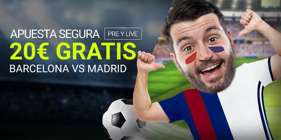 Luckia: Barça vs. Madrid. Apuesta segura