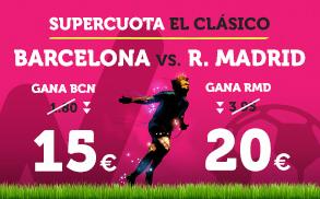 Wanabet: ¿Barça @15.0 vs. Madrid @20.0? + 200€