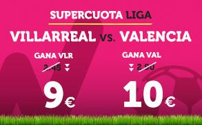 Wanabet: ¿Villarreal @9.0 vs. Valencia @10.0? + 200€