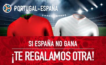 Sportium: Portugal vs. España. Si España no gana… ¡Te regalamos otra!