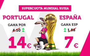 Wanabet: ¿Portugal @14.0 vs. España @7.0? + 200€