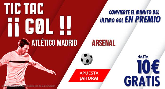 Suertia: At. Madrid vs. Arsenal. Apuesta y llévate hasta 10€ GRATIS