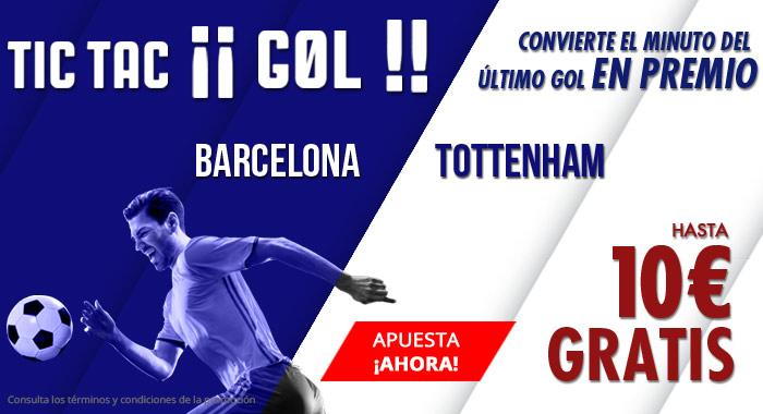 Suertia: Barça vs. Tottenham. Apuesta y llévate hasta 10€ GRATIS