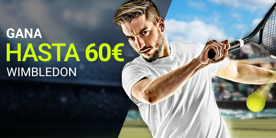 Luckia: Wimbledon. Apuesta y llévate 60€ GRATIS