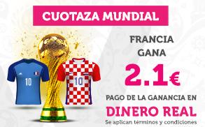 Wanabet: Francia gana el Mundial a cuota mejorada