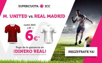Wanabet: Man. United vs. Real Madrid @6.0 + 200€