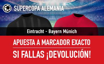 Sportium: Eintracht F vs. B.Munich. Apuesta a 'Marcador Exacto'… Si fallas ¡Devolución!