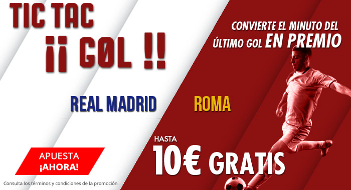 Suertia: Real Madrid vs. Roma. Haz tú apuesta y llévate hasta 10€ GRATIS