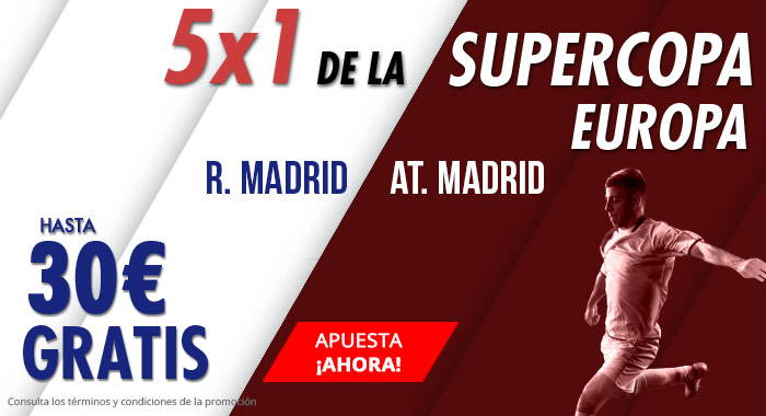 Suertia: Supercopa Europa. R. Madrid vs. At. Madrid. Apuesta y llévate hasta 30€ GRATIS