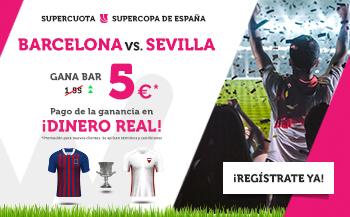 Wanabet: Supercopa España. Barça @5.0 vs. Sevilla + 200€