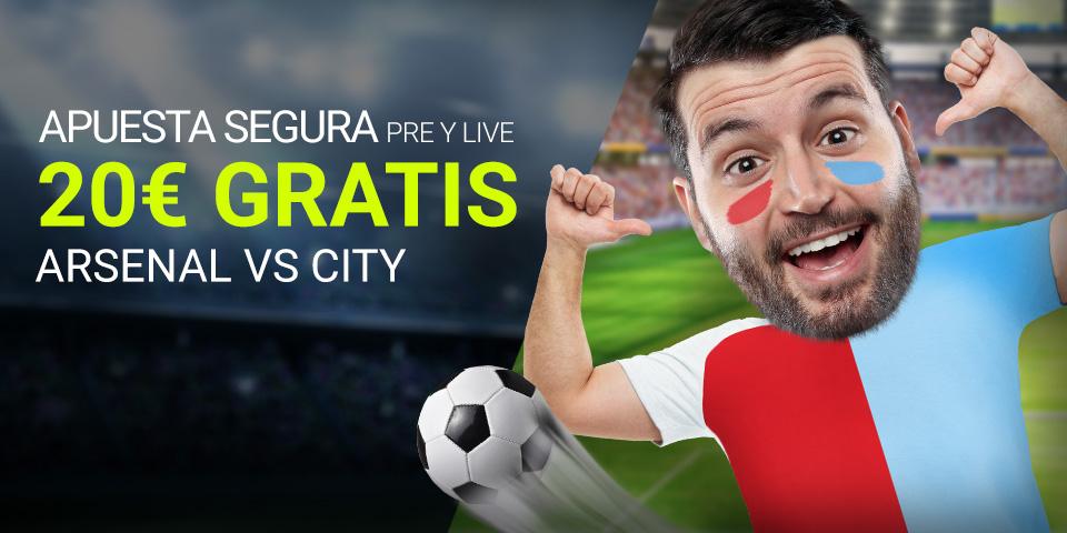 Luckia: Arsenal vs. Man. City. Apuesta segura