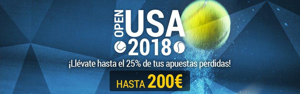 Bwin: US Open. Recupera hasta el 25% de tus apuestas perdidas