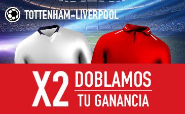 Sportium: Tottenham vs. Liverpool. Dobla tus ganancias