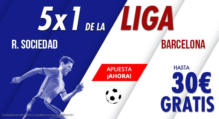 Suertia: R. Sociedad vs. Barça. Apuesta y llévate hasta 30€ GRATIS