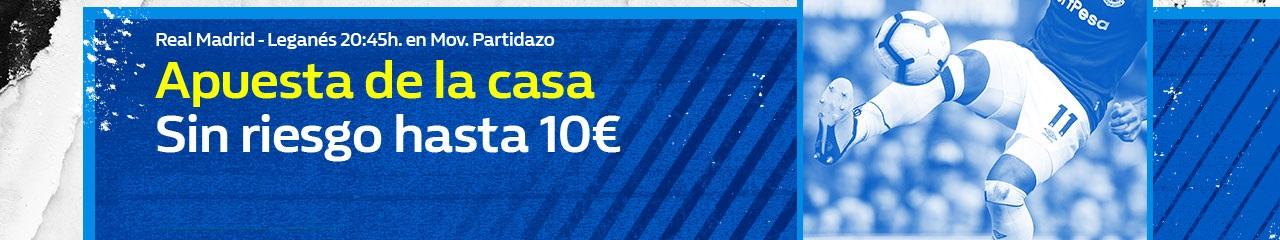 William Hill: Real Madrid vs. Leganes. Hasta 10€ sin riesgo