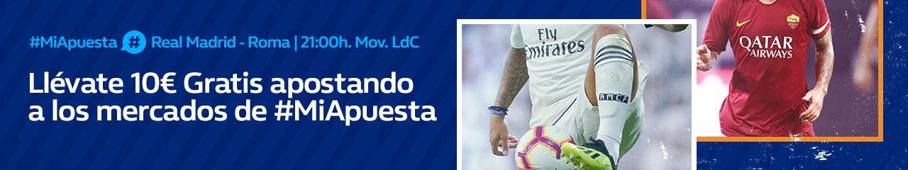 William Hill: Real Madrid vs. Roma. #MiApuesta Llévate 10€ GRATIS