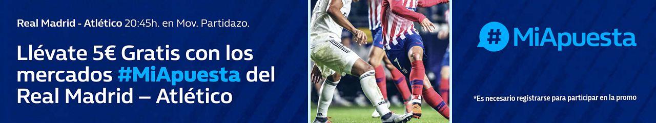 William Hill: Real Madrid vs. At. Madrid. #MiApuesta Llévate 5€ GRATIS