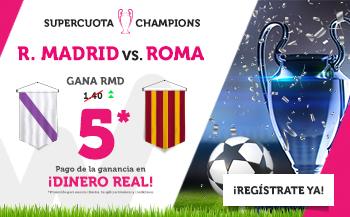 Wanabet: R. Madrid @5.0 vs. Roma + 200€
