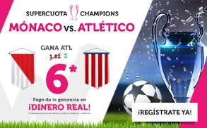 Wanabet: Mónaco vs. At. Madrid @6.0 + 200€