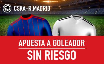 Sportium: CSKA vs. Real Madrid. Haz tu apuesta a GOLEADOR ¡SIN RIESGO!