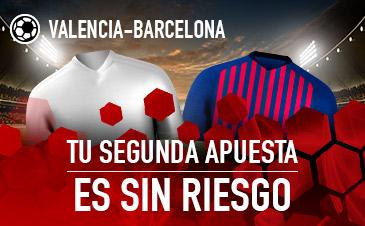 Sportium: Valencia vs. Barça. Haz tu apuesta y la segunda ¡SIN RIESGO!