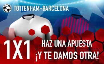 Sportium: Tottenham vs. Barça. Haz una apuesta y te regalamos otra