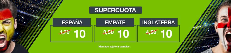 Codere: Supercuota España vs. Inglaterra + 350€