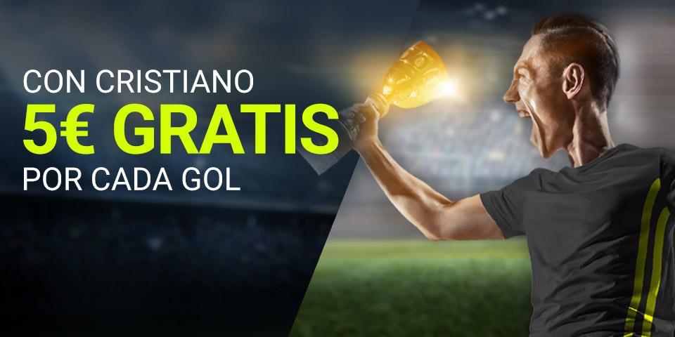 Luckia: Man. United vs. Juventus. 5€ por cada gol de Cristiano