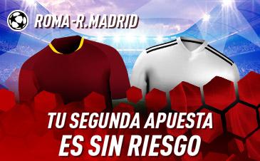 Sportium: Roma vs. Madrid. Haz tu apuesta y la segunda ¡SIN RIESGO!