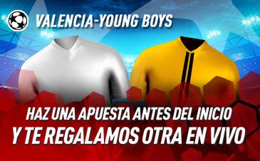 Sportium: Valencia vs. Y.Boys. Haz una apuesta y te regalamos otra