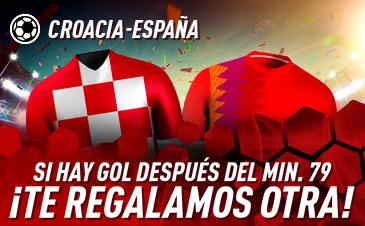 Sportium: Croacia vs. España. Si hay gol después del min 79 ¡DEVOLUCIÓN!
