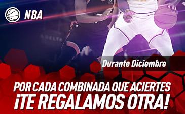 Sportium: Acierta tu combinada NBA y te damos otra (Diciembre)