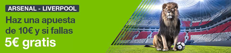 Codere: Arsenal vs. Liverpool. Haz tu apuesta y llévate 5€ GRATIS