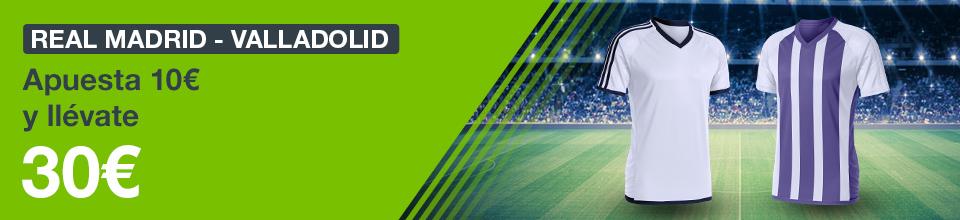 Codere: Real Madrid vs. Valladolid. Haz tu apuesta y llévate 30€ GRATIS