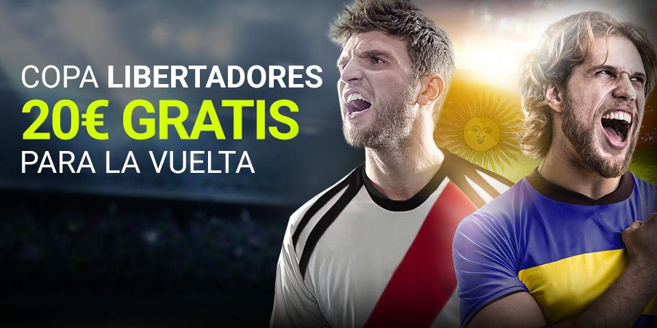Luckia: Final Libertadores (IDA). Apuesta y llévate 20€ GRATIS para la vuelta