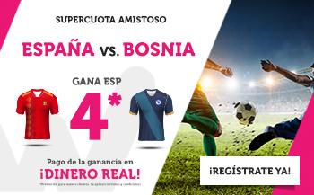 Wanabet: España @4.0 vs. Bosnia + 200€