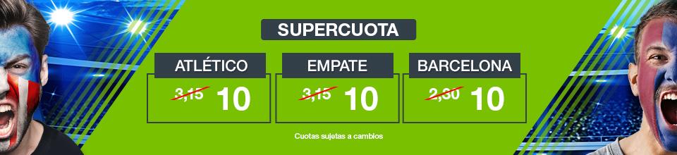 Codere: At. Madrid vs. Barça. Supercuota SÓLO para nuevos usuarios
