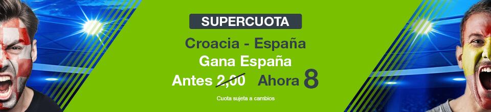 Codere: Supercuota Croacia vs. España + 350€